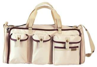 Little Company Exclusive Roll-Up Travel Bag with Leather Finish (Beige)
