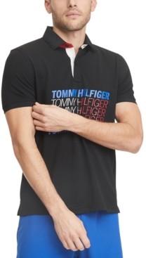 Tommy Hilfiger Men's Mel Custom-Fit Logo Wicking Polo Shirt