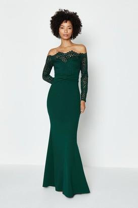 Coast Long Sleeve Lace Bardot Maxi Dress