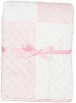 SpaSilk 30'' x 30'' Pink & White Minky Dot Blanket