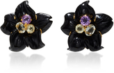 Bounkit Black Calcite Flower Earrings