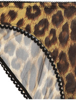 Deborah Marquit Leopard-print stretch-tulle briefs