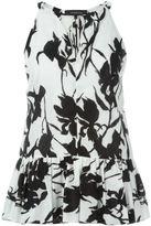 Thakoon floral print sleeveless top - women - Cotton/Silk - 4