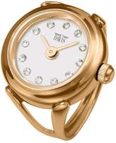 Swarovski Davis 4161-Women's Finger Ring watch-Rose Gold Case- Dial Crystal stones-Sapphire Glass-Adjustable