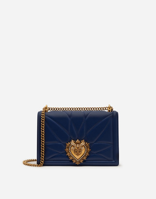 Dolce & Gabbana Large Matelasse Nappa Leather Devotion Bag