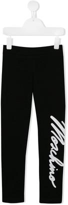 MOSCHINO BAMBINO Logo Print Leggings