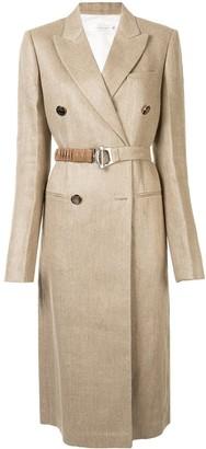 Victoria Beckham Belted Linen Coat