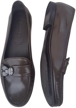 Bally Grey Leather Flats