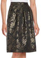 Marina Textured Pattern Knee-Length Skirt