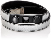 Saint Laurent Men's 3 Clous Double-Wrap Bracelet-SILVER