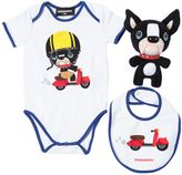 DSQUARED2 Ciro Cotton Jersey Bodysuit, Bib & Toy