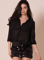 Missy Empire Tilly Black Sequin Mini Skirt