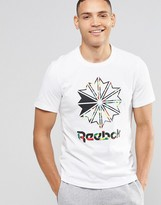 Reebok Large Starcrest T-Shirt In White AX8754