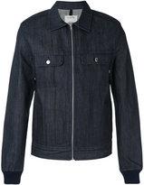 A.P.C. zipped denim shirt jacket - men - Cotton - S