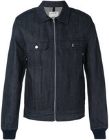A.P.C. zipped denim shirt jacket