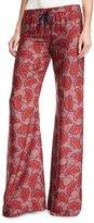 Alexis Serephine Printed Drawstring Wide-Leg Pants