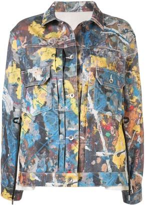Sacai Paint Palette Denim Jacket