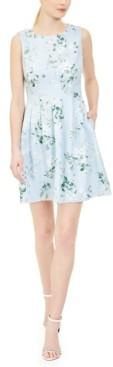 Calvin Klein Petite Floral-Print Fit & Flare Dress