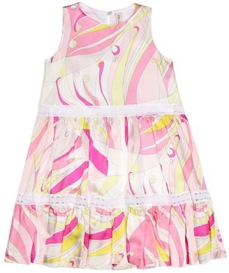 Emilio Pucci Kids Printed silk-blend dress