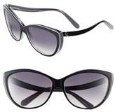 61mm Two-Tone Cat Eye Sunglasses