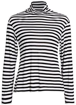 ATM Anthony Thomas Melillo Monochrome Striped Mockneck Top