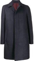 Herringbone Check Coat