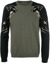 Valentino panther intarsia jumper - men - Polyester/Viscose - S