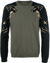 Valentino panther intarsia jumper