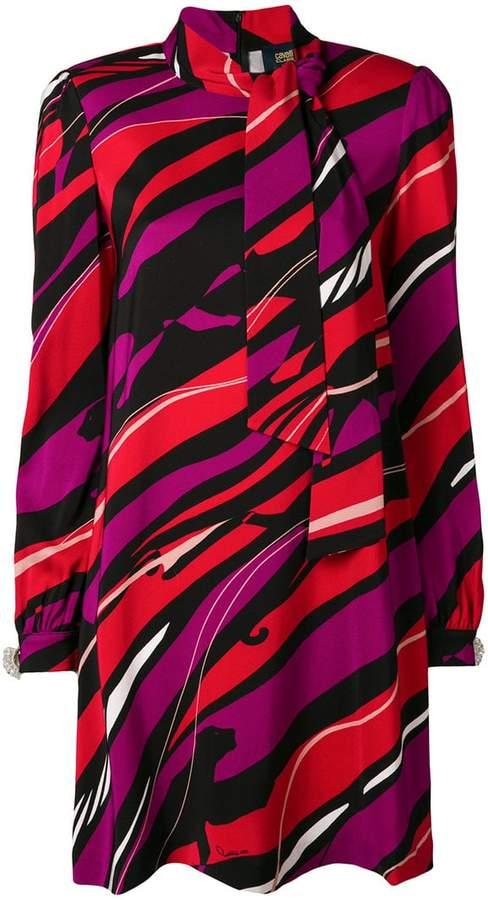 Class Roberto Cavalli graphic print dress