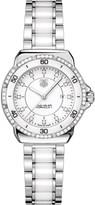 Tag Heuer Formula 1 steel ceramic diamonds dial & bezel watch 32mm