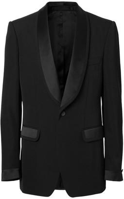 Burberry Wool Murberry Silk Lapel Tuxedo Jacket