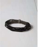 Express chan luu black seed bead stretch bracelet