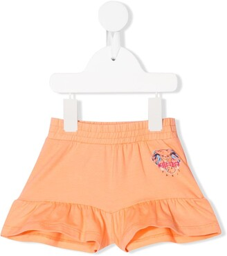 Kenzo Kids Elephant print flared shorts