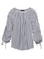 Banana Republic Stripe Drawstring-Sleeve Top