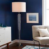 west elm Acrylic Column Floor Lamp - Polished Nickel