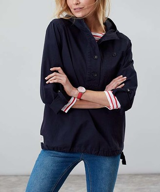 Joules Women's Non-Denim Casual Jackets MARNAVY - Marled Navy Hooded Jacket - Women