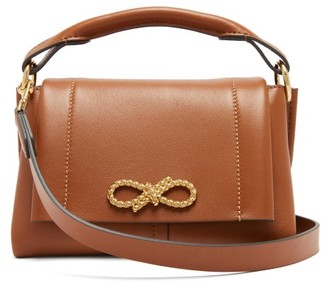 Anya Hindmarch Rope Bow Mini Leather Handbag - Tan