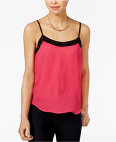 Lily Black Juniors' Strappy-Back Colorblocked Camisole, Only at Macy's