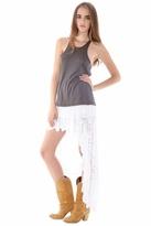 Nightcap Clothing Spanish Saloon Skirt in White