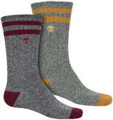Timberland Marled Hiking Socks - 2-Pack, Crew (For Men)