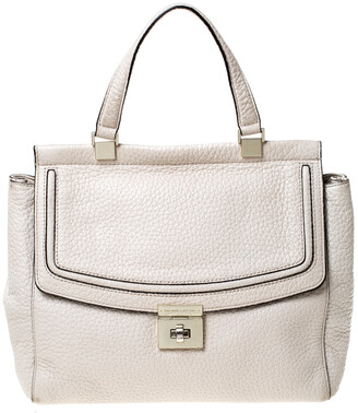 Kate Spade Cream Leather Tallulah Everett Way Top Handle Bag