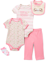Buster Brown Pink 'Cute' Five-Piece Layette Set - Infant