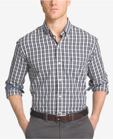Izod Men's Non-Iron Plaid Button-Down Long-Sleeve Shirt