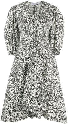 Proenza Schouler White Label Puff-Sleeve Polka-Dot Dress