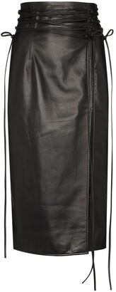 16Arlington Tie-Fastening Detail Pencil Skirt