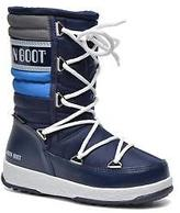 Moon Boot Kids's W.E. Quilted Jr Wp Lace-up Boots in Blue