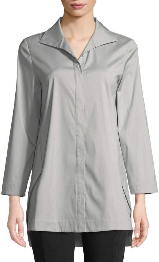 Lafayette 148 New York Marla Button-Front Tunic