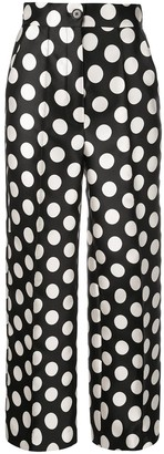 Dice Kayek High-Waisted Polka Dot Trousers