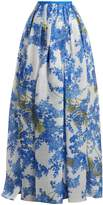 Carolina Herrera Floral Vine-print pleated skirt