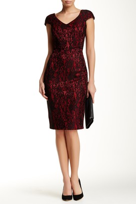 Alexia Admor Double V-Neck Lace Dress